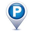 parking sur marqueur géolocalisation bleu - 81965520