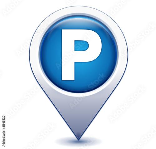 parking sur marqueur géolocalisation bleu