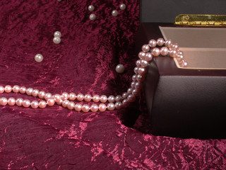 Pearl Necklace in the box