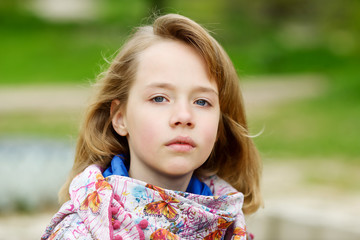 portrait of blonde girl