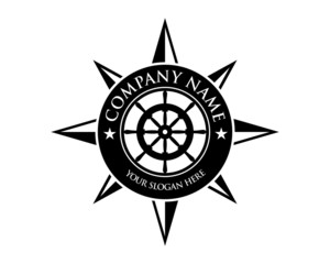 compass direction logo image vector
