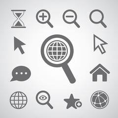 magnification icon set