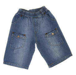 Children's jeans isolated on white background