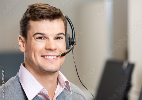 Confident Customer Service Representative In Office