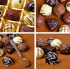 chocolade pralines - detail