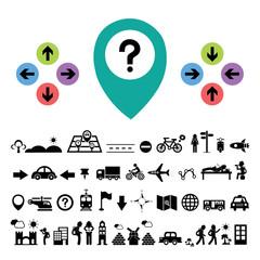 direction and traveler explorer icon