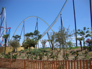 ride a roller coaster in Spain