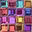 The colorful tiles from the shiny glass blocks. - 81968352