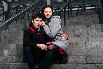 Young beautiful couple in relationship