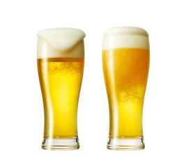 グラスビール2個