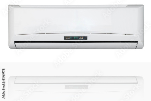 Split system air conditioner isolated