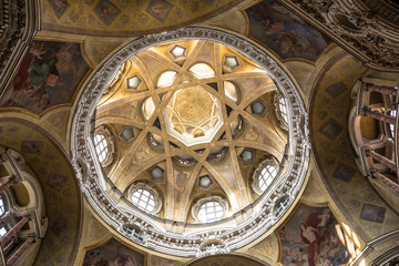 The dome of San Lorenzo Church in Turin