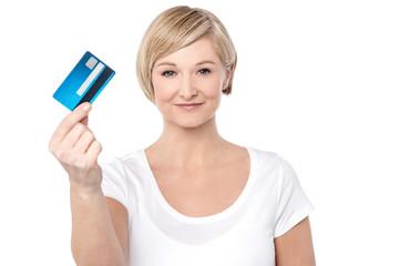 Credit card, my shopping partner.