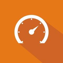 Icono velocímetro 2 naranja sombra