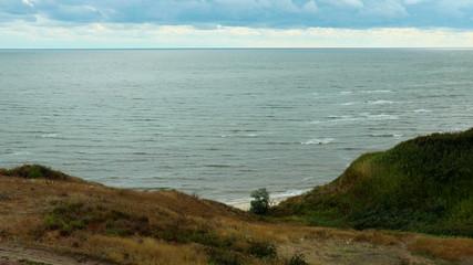 beach, cliff