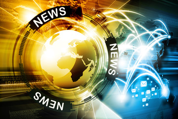 Digital news background