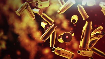 Falling bullet background