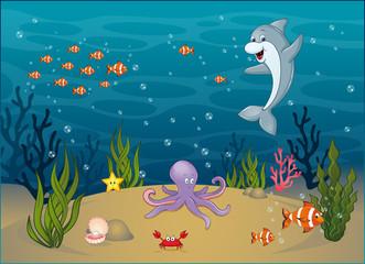 Auf dem Meeresgrund