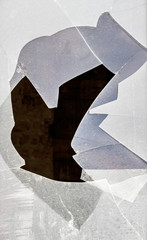 Zerbrochene Fensterscheibe
