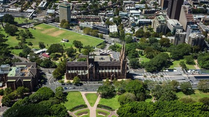 Hyde Park and St Mary's Cathedral, Sydney