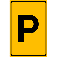 Parking Sign, Vector illustration