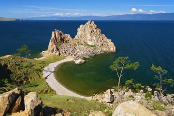 Shamanka-Rock on Baikal lake