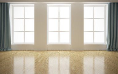 Empty modern bright interior background