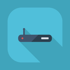 Flat modern design with shadow vector icons: Wi fi adapter