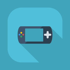 Flat modern design with shadow vector icons: game console