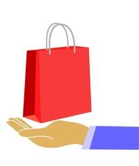 hand and bag
