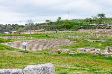 ancient greek theater in Morgantina ruins, Sicily
