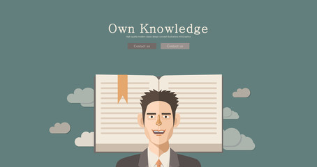 Modern and classic design knowledge concept illustration