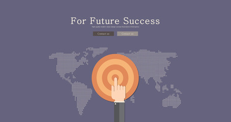 Modern and classic design for future success concept