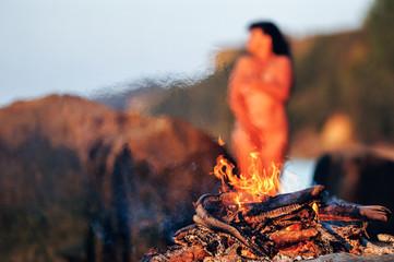 Woman on the coast