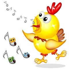gallo cantante