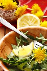 salad and lemon