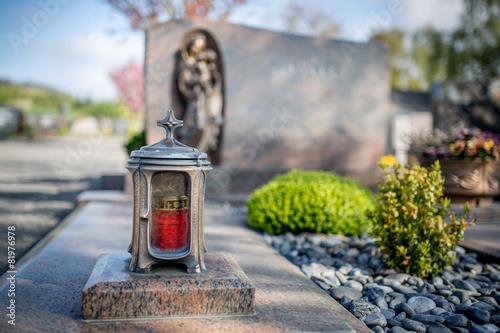 Foto op Plexiglas Begraafplaats Grabgestaltung