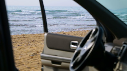 View to the Beach from the Car