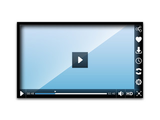 Media player user interface, easy editable vector