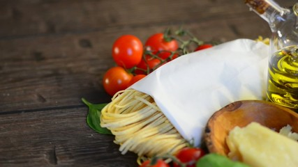 Pasta. Italian Homemade Spaghetti