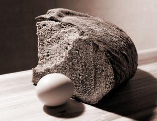 Still Life with Bread & Egg