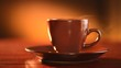 Coffee or Tea. Brown Cup of Hot Beverage with Steam