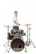 Drummer near the installation - 81980163