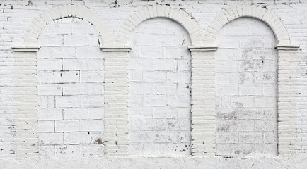 White arched brick wall