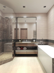 Minimalism bathroom interior