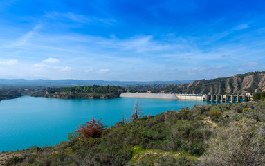 View over Lake Nergratin Granada Province, Spain