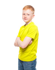 Child isolated on white