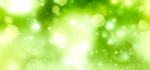 green festive background bokeh