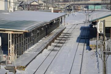 上から見た駅舎