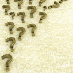 Fragezeichen - 3d Render